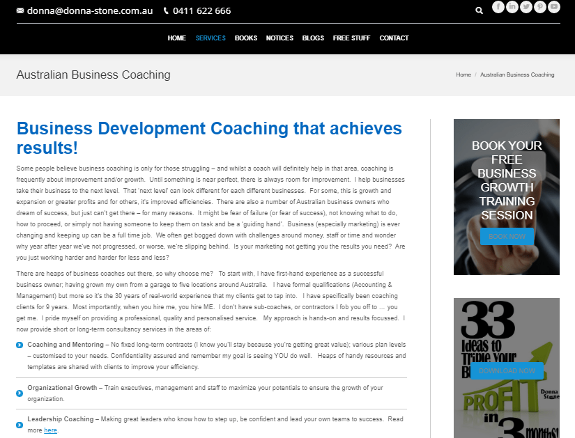 donna stone business coach