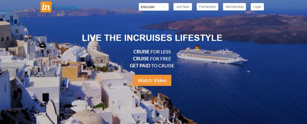 incruises website