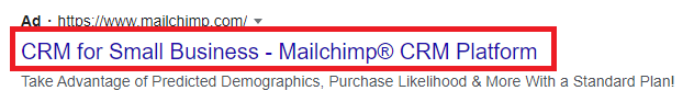 mailchimp google ads