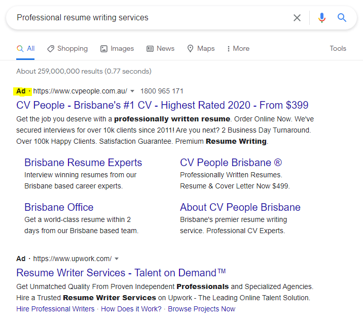 google ads australian businesses